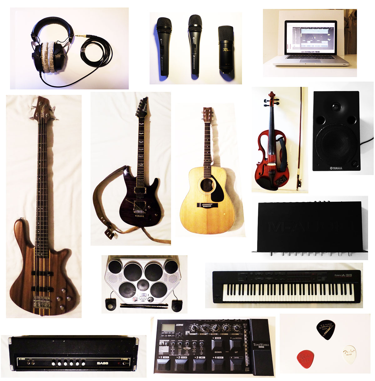 16 instruments and sound recording gear used to make a rock song oh. Black Bedroom Furniture Sets. Home Design Ideas