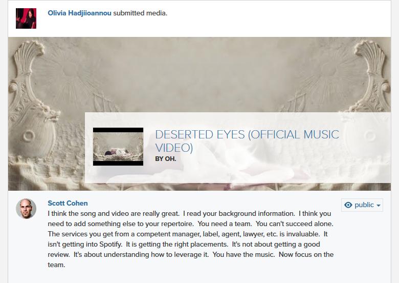 Scott Cohen - Oh. - Olivia Hadjiioannou - Deserted Eyes
