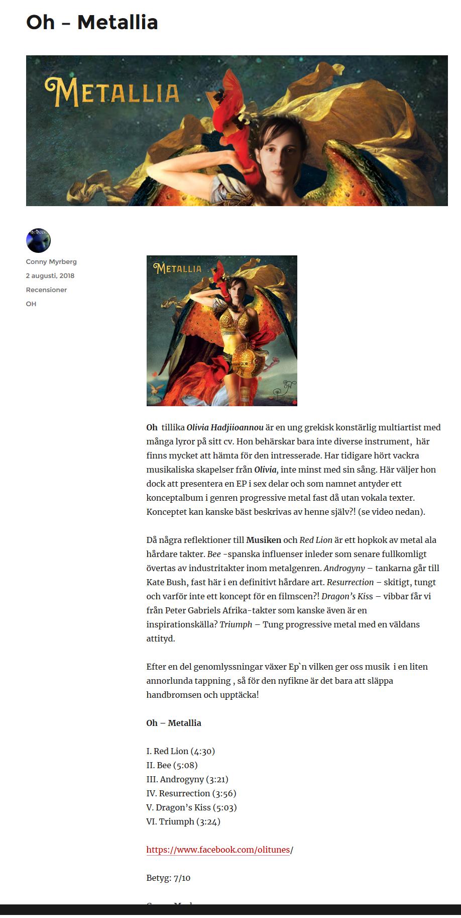Review of Metallia