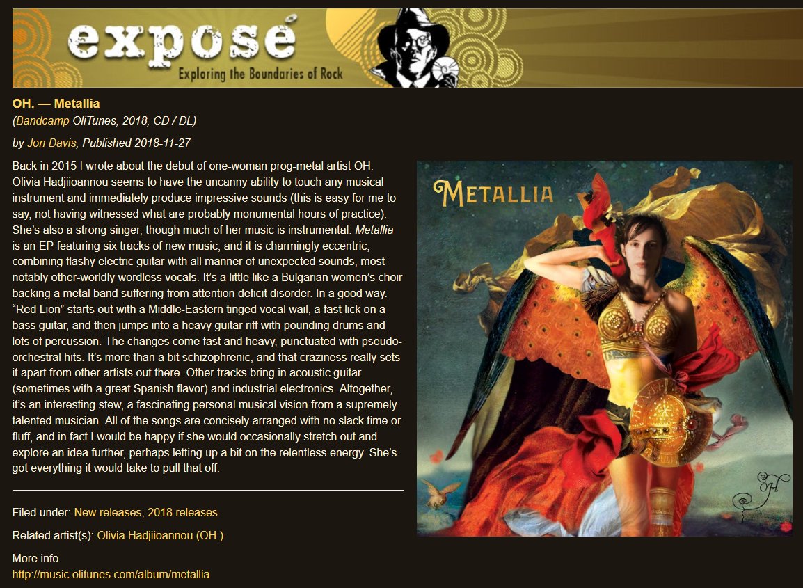 Exposé Online Reviews OH - Metallia