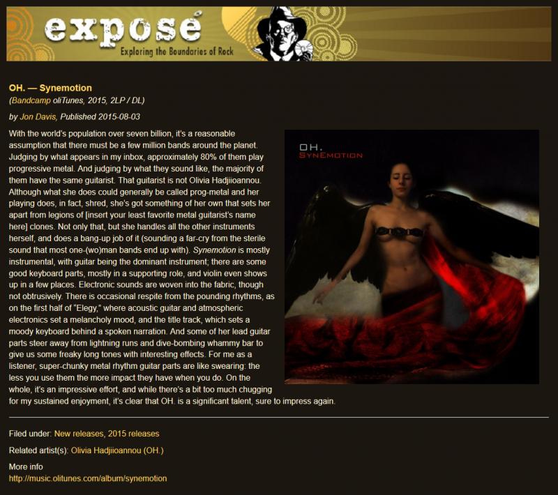 Expose - Jon Davies - OH - Synemotion