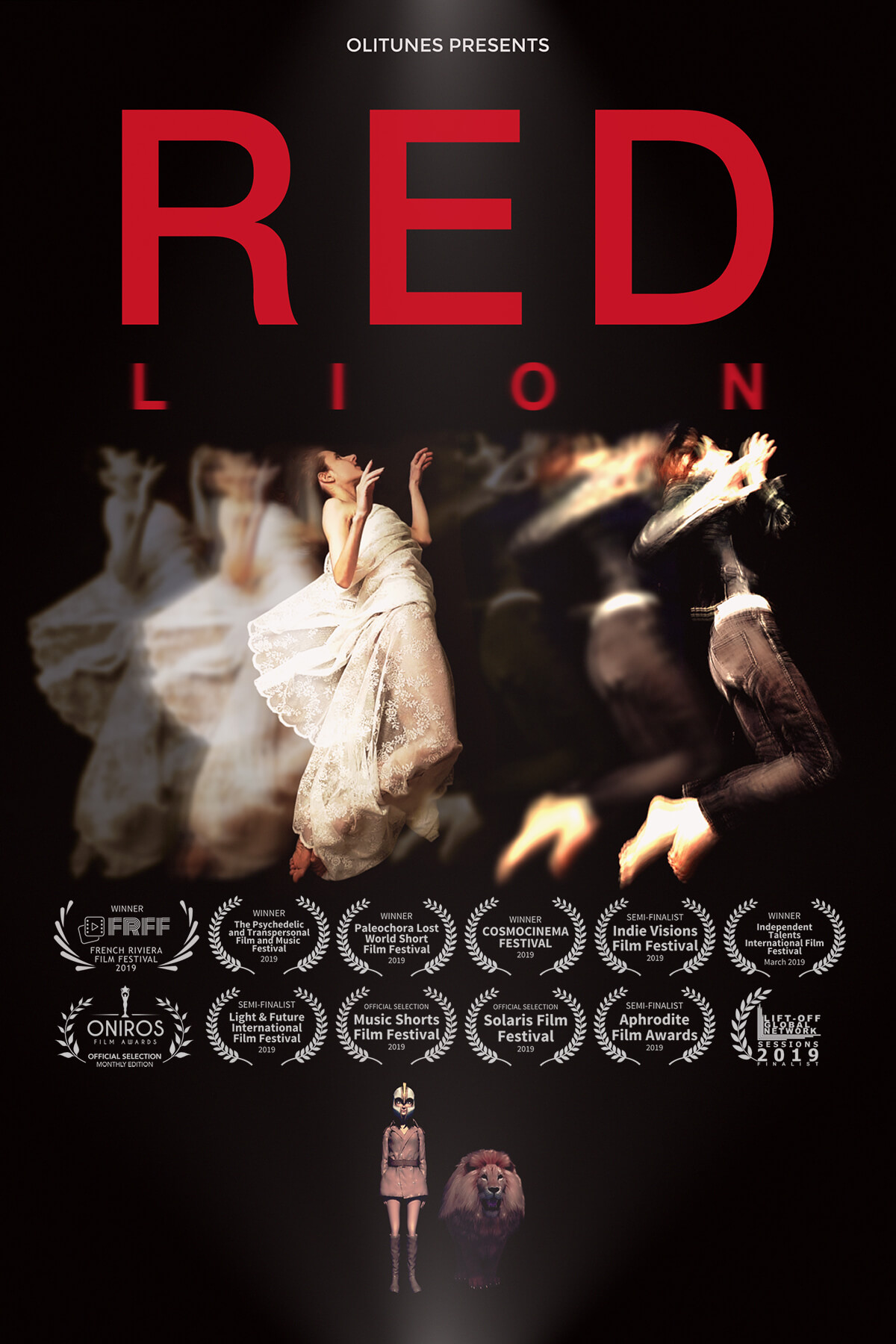 "Poster ""Red Lion"" Music Video Oh. Olivia Hadjiioannou"