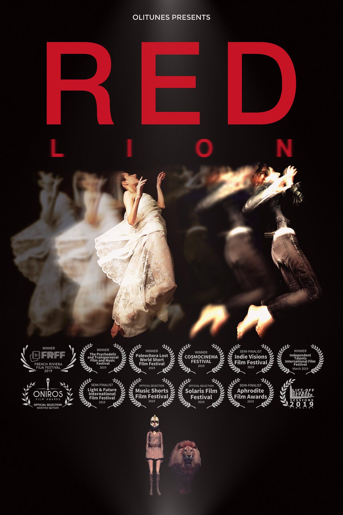 "Poster ""Red Lion"" Music Video Oh. Olivia Hadjiioannou"
