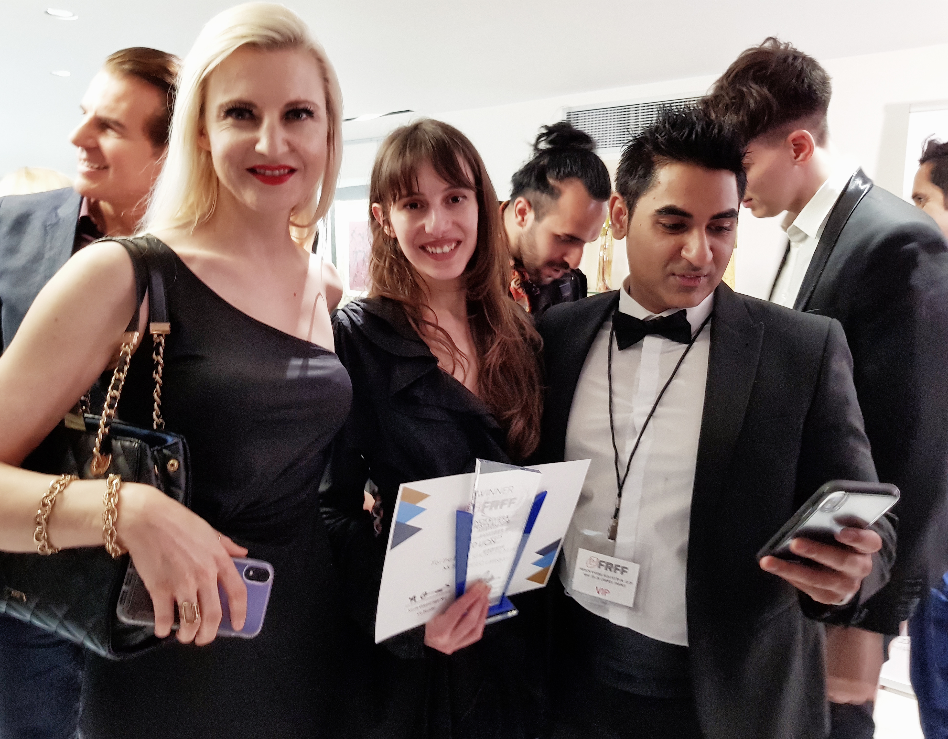 Best Actor Vincent De Paul, Host and Producer, Laura Powers. Director, Olivia Hadiioannou, Director, Amir Zargara Producer Samir Srivastava