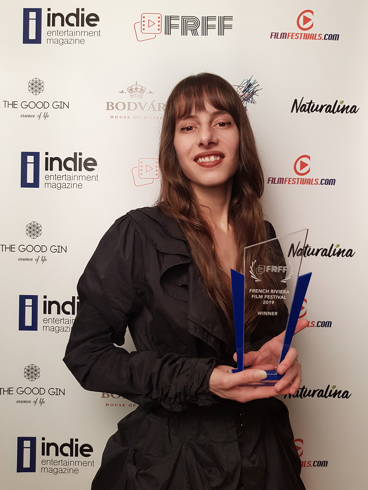 Olivia Hadjiioannou (Oh.) at the Frenchh Riviera Film Festival in Cannes - Best Music Video Award