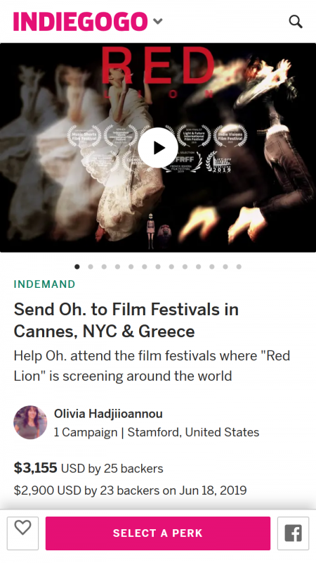 Send Oh to Film Festivals in Cannes, NYC Greece