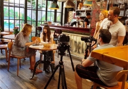 "on TV show ""Educating Jenny"" on ANT1-TV Jenny Balatsinou in Greece featuring Olivia Hadjiioannou Τζένη Μπαλατσινού - Εκπαιδεύοντας την Τζένη"
