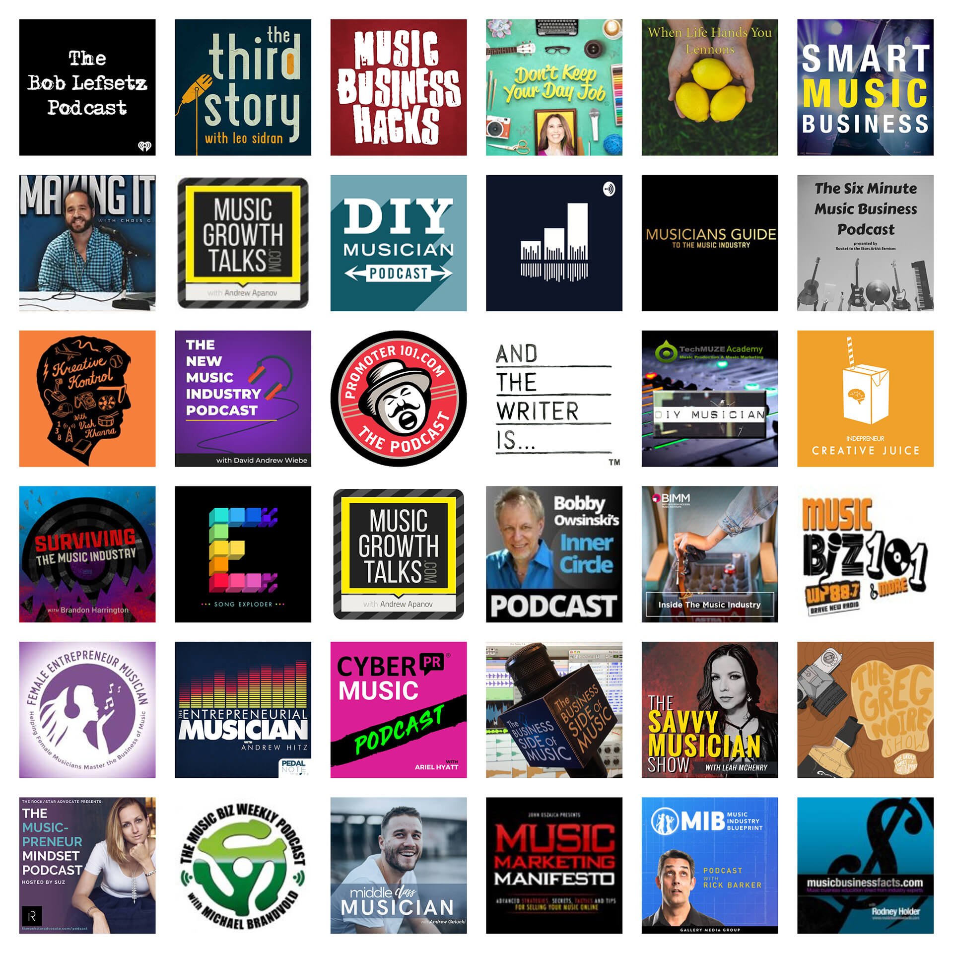 52 Top Music Industry Podcasts for Musicians — Oh